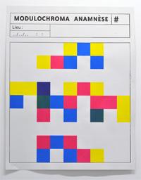 """Sérigraphie """"Modulochroma"""" de julien DUPORTE, 2014. PHAKT - Centre Culturel Colombier, RENNES (35)."""