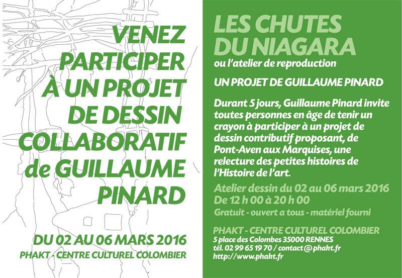 Les chutes du Niagara ou l'atelier de reproduction : projet de dessin collaboratif de Guillaume PINARD.