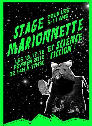 """Stage """"Marionnettes et sciences fiction"""", pour les enfants de 6 à 11 ans - vacances de février 2016"""