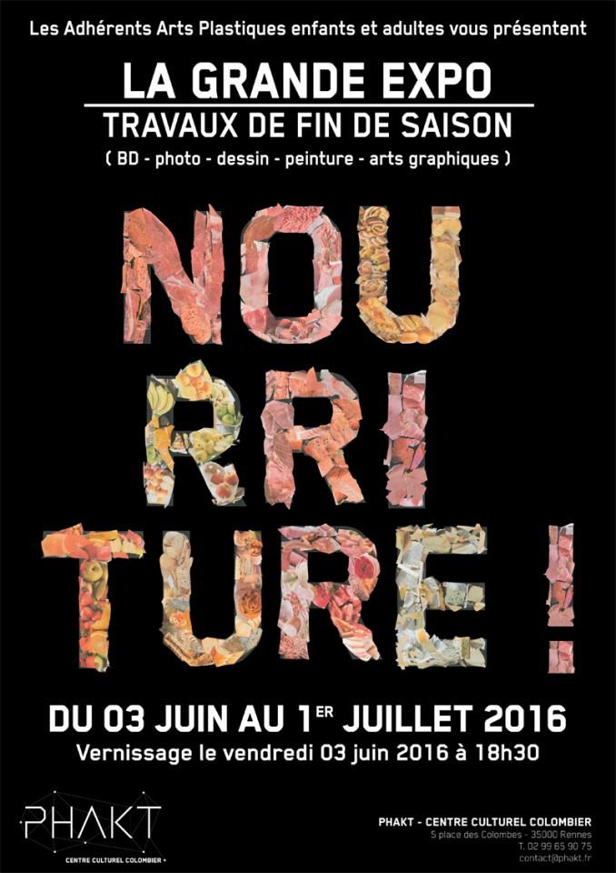 Travaux de fin de saison 2015-2016 des adhérents arts platsiques du PHAKT - Centre cCutlurel Colombier (RENNES - 35)