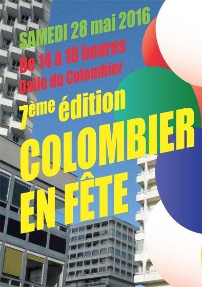 7ème édition du Colombier en fête avec le PHAKT - Centre Culturel Colmbier, le samedi 28 mai 2016, de 14h à 18h sur la Dalle Colombier. RENNES (35). Fête de quartier.