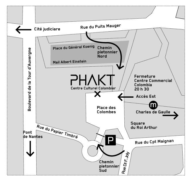 Plan d'accès PHAKT