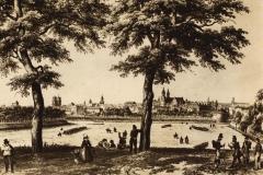 Le-vieux-Rennes-vue-prise-de-la-butte-du-Champ-de-Mars par Benoist, Reproduction Le Couturier Auguste (Photographe), Rennes. Collections du Musée de Bretagne.