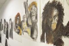 """Vue exposition """"Pas si bête ! Une épopée animalière"""", exposition des adhérents arts visuels du PHAKT - 2019"""